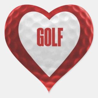 Love Golf Heart Sticker