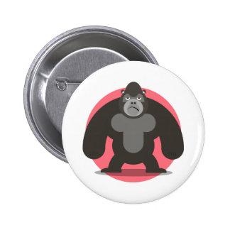 Love Gorilla 6 Cm Round Badge