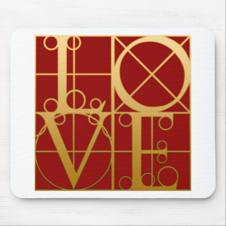 LOVE Graphic Mouse Pad