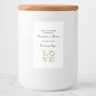 LOVE Graphic Text - Faux Gold Food Label