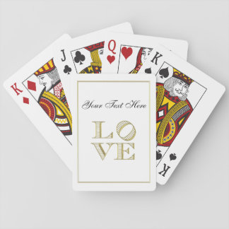 LOVE Graphic Text - Faux Gold Playing Cards