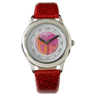 Love Graphic Wrist Watch