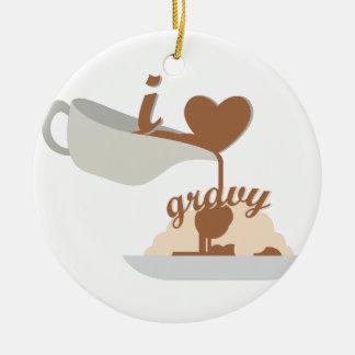 Love Gravy Ceramic Ornament