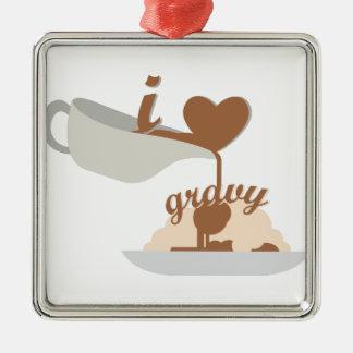 Love Gravy Metal Ornament