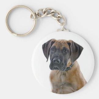 Love Great Dane Puppy Dog Canine Keychain