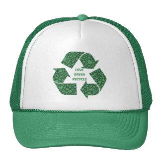 love green recycle trucker hat