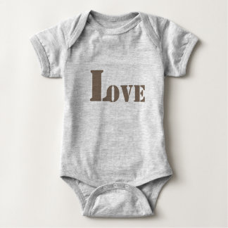 love grey baby bodysuit