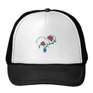 LOVE GROWS HERE HAT