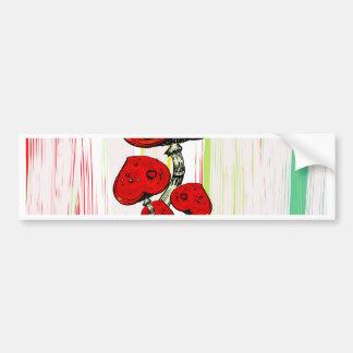 Love grows like a mushroom bumper sticker