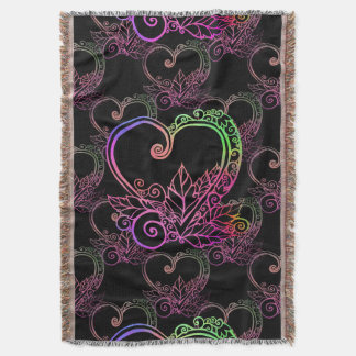 Love Grows Patterned Throw Blanket