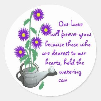 Love Grows/ Wedding Round Sticker