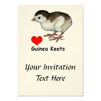 Love Guinea Keets 13 Cm X 18 Cm Invitation Card