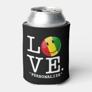 Love Guinea Smiling Flag Can Cooler