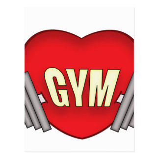 love gym postcard