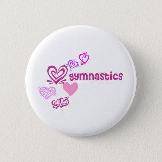 Love Gymnastics 6 Cm Round Badge