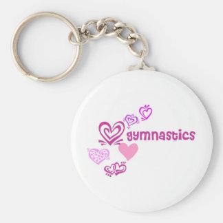 Love Gymnastics Basic Round Button Key Ring