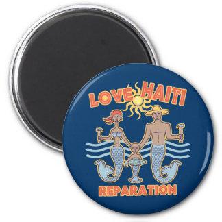 Love Haiti 6 Cm Round Magnet