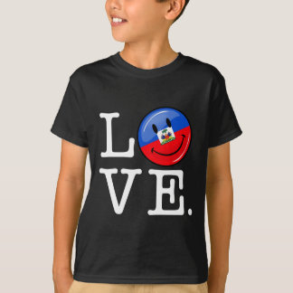 Love Haiti Smiling Flag T-Shirt