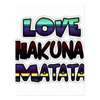 Love Hakuna Matata Gifts Postcard