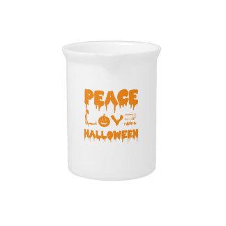 Love Halloween costume tshirt with skeleton, bats Pitcher