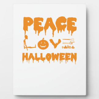 Love Halloween costume tshirt with skeleton, bats Plaque