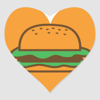 love hamburgers stickers heart sticker