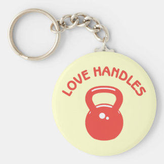 Love Handles Basic Round Button Key Ring