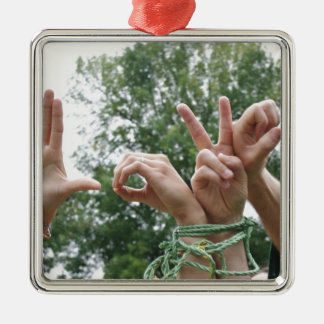 Love Hands Metal Ornament