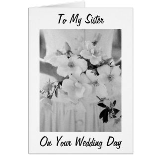 LOVE HAPPINESS / DREAMS COME TRUE SISTER WEDS GREETING CARD