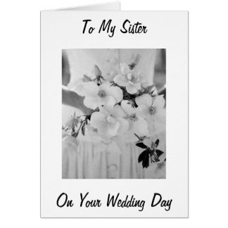 LOVE HAPPINESS / DREAMS COME TRUE SISTER WEDS CARD