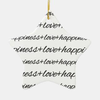 Love + Happiness Ornament