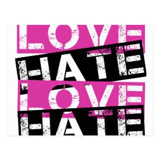 LOVE HATE LOVE HATE POSTCARD