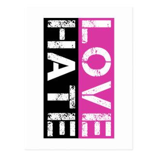 LOVE HATE POSTCARD