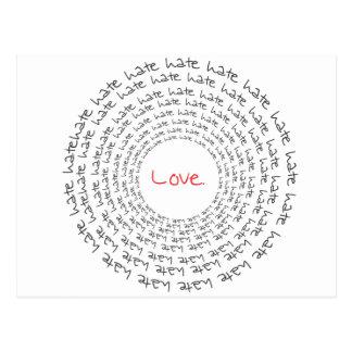 Love Hate Post Card