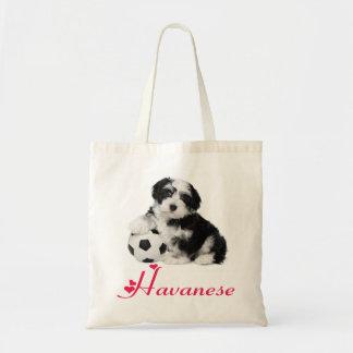 Love Havanese Puppy Dog Canvas Totebag Budget Tote Bag
