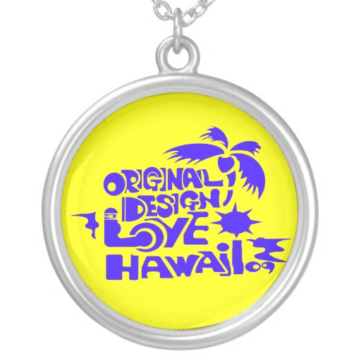 LOVE HAWAII09 LOGO PERSONALIZED NECKLACE