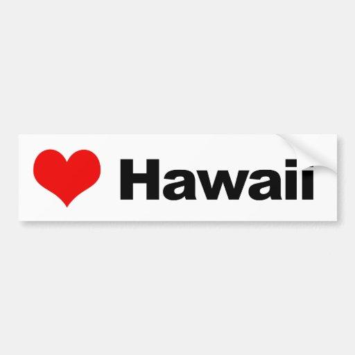 Love Hawaii Bumper Sticker