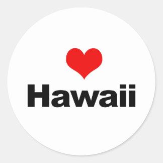 Love Hawaii Round Sticker