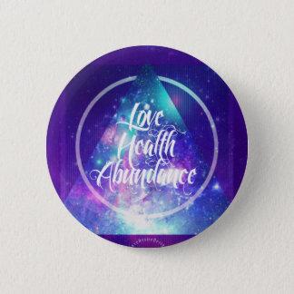 love-health-abundance zen series 6 cm round badge