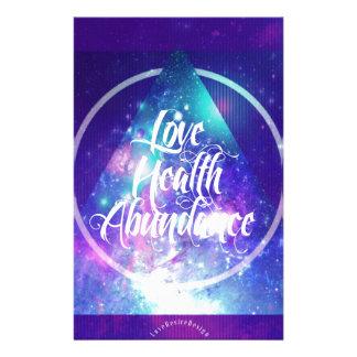 love-health-abundance zen series stationery