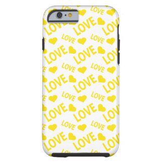 Love Heart 1 Yellow Tough iPhone 6 Case