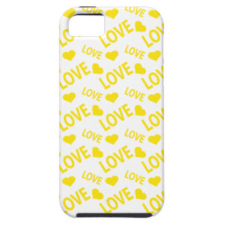 Love Heart 1 Yellow iPhone 5 Cases