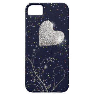 love heart and stars at night iPhone 5 covers