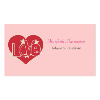 Love Heart and Stars Business Card