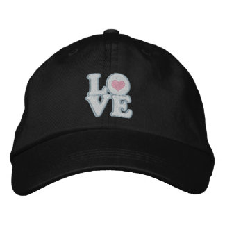 Love Heart And Text Embroidered Cap