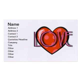 Love Heart Business Card