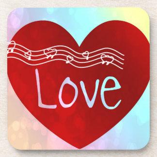 Love Heart Beverage Coasters