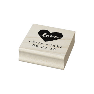 Love Heart Custom Wedding Stamp