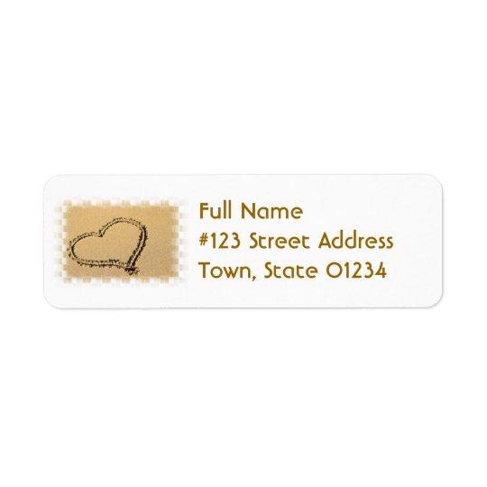 Love Heart Drawing Mailing Label Return Address Label