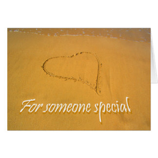 Love Heart drawn in Beach Sand,for someone special Greeting Card
